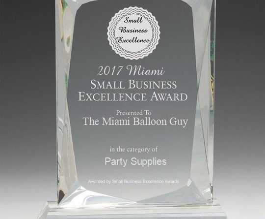 Small Business Excellence Reward - 2017