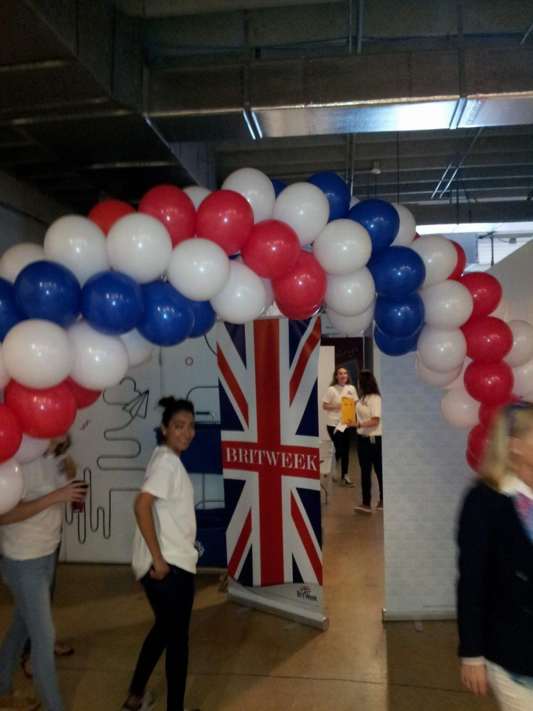Balloon Arch for Britweek coding event in Wynwood
