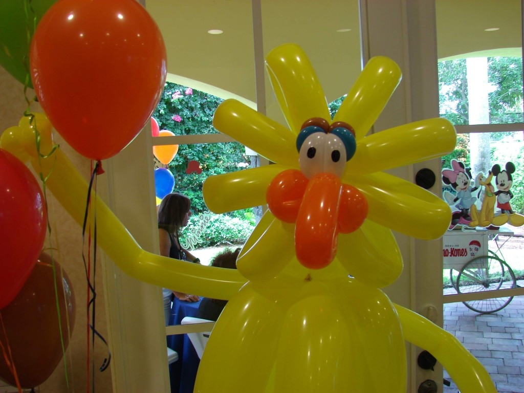 Big bird parody balloon standup