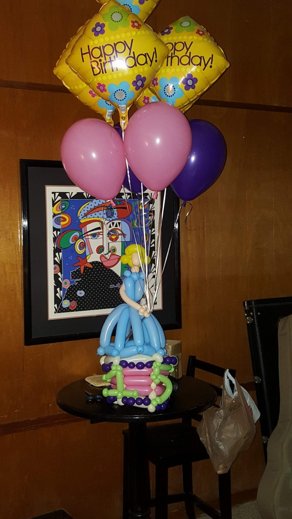 Birthday cake princess balloon bouquet delivery
