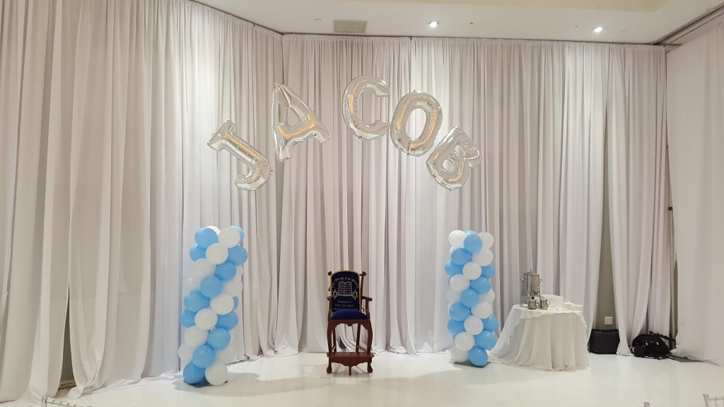 Giant Letter balloon arch with columns