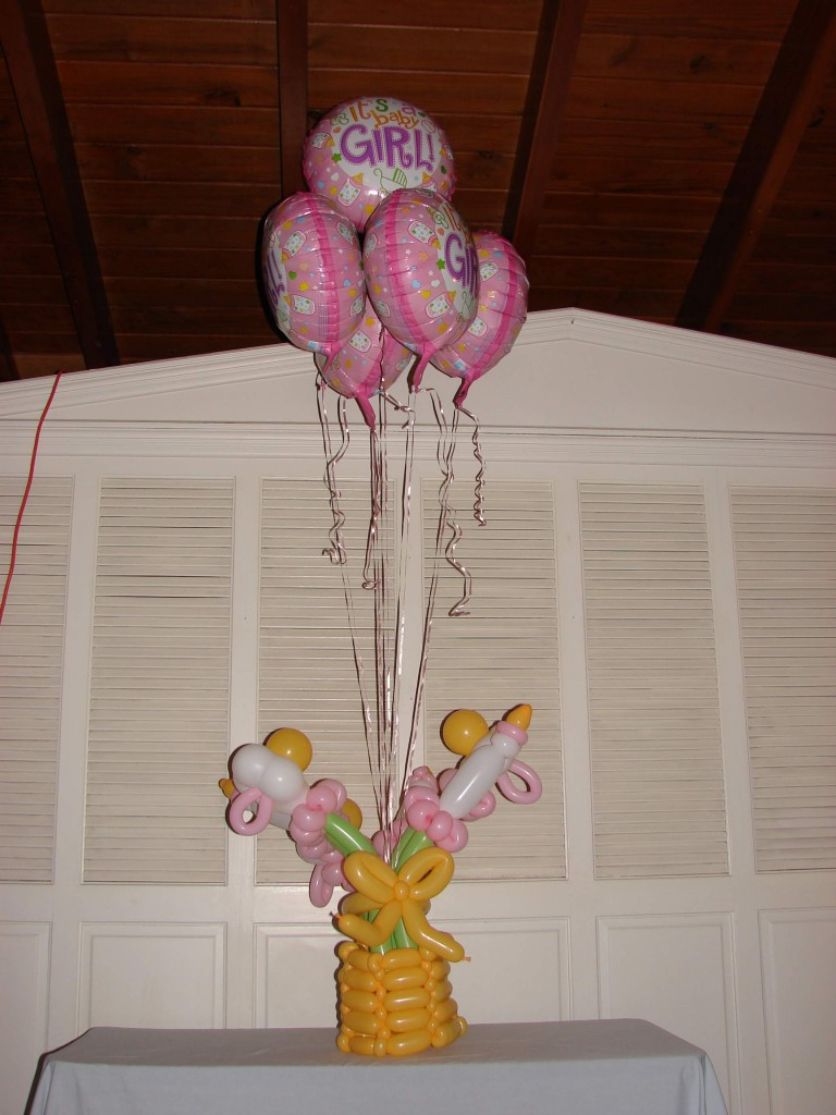 Girls Baby Bottle and Pacifier Balloon Bouquet delivery