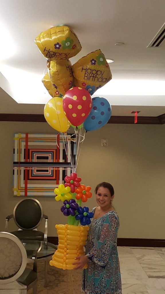 Golden Pastel Birthday Balloon Bouquet