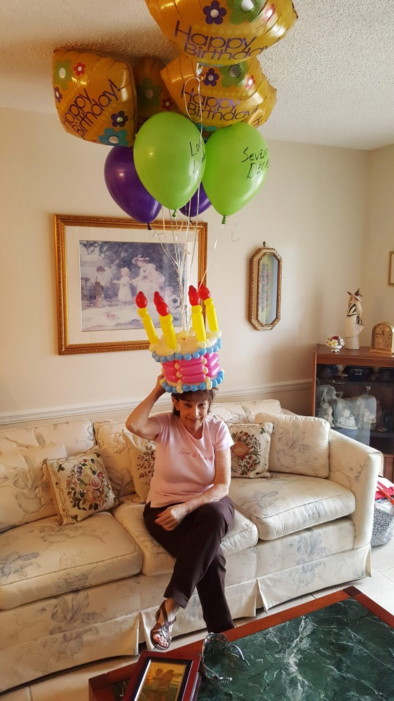 Happy Birthday Balloon Cake bouquet delivery