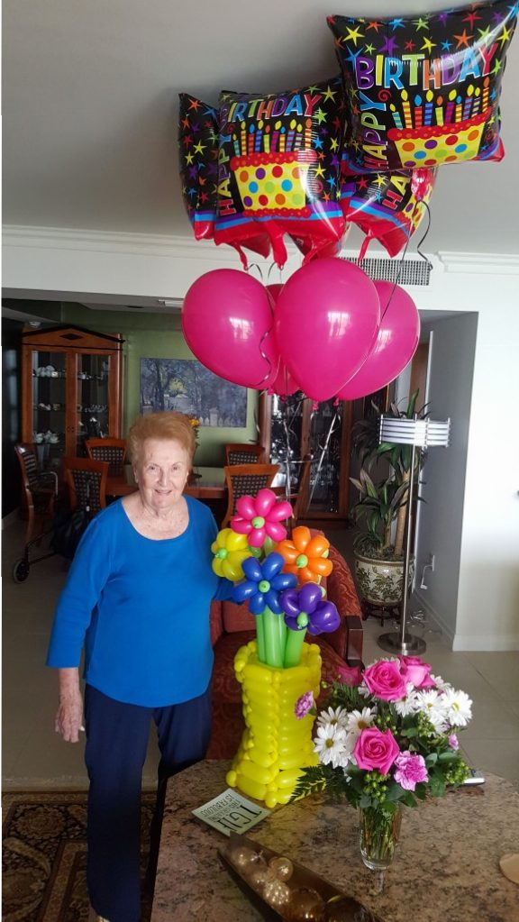 Happy Birthday Balloon Flower bouquet delivery black balloon delivery