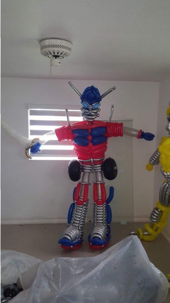 Optimus Prime ttransformers balloon parody