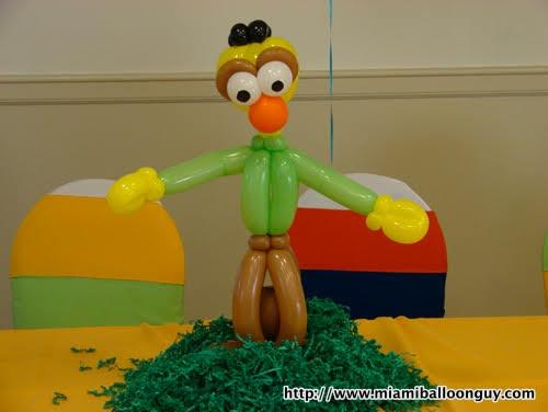 Sesame Street Bert balloon parody centerpiece