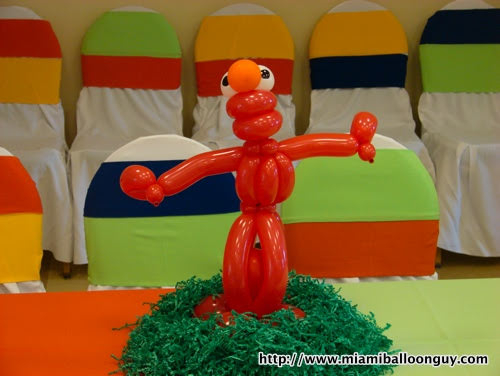Sesame street Elmo balloon parody centerpiece