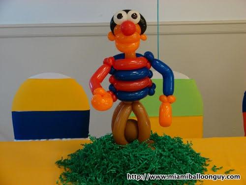 Sesame Street Ernie balloon Parody centerpiece