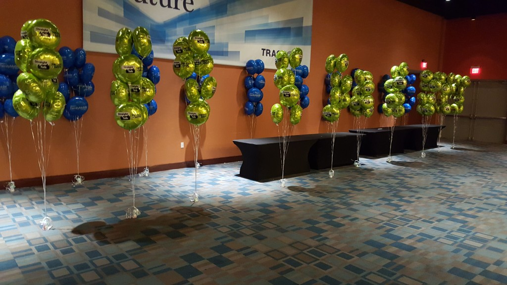Simply Mobile balloon bouquets for conference.
