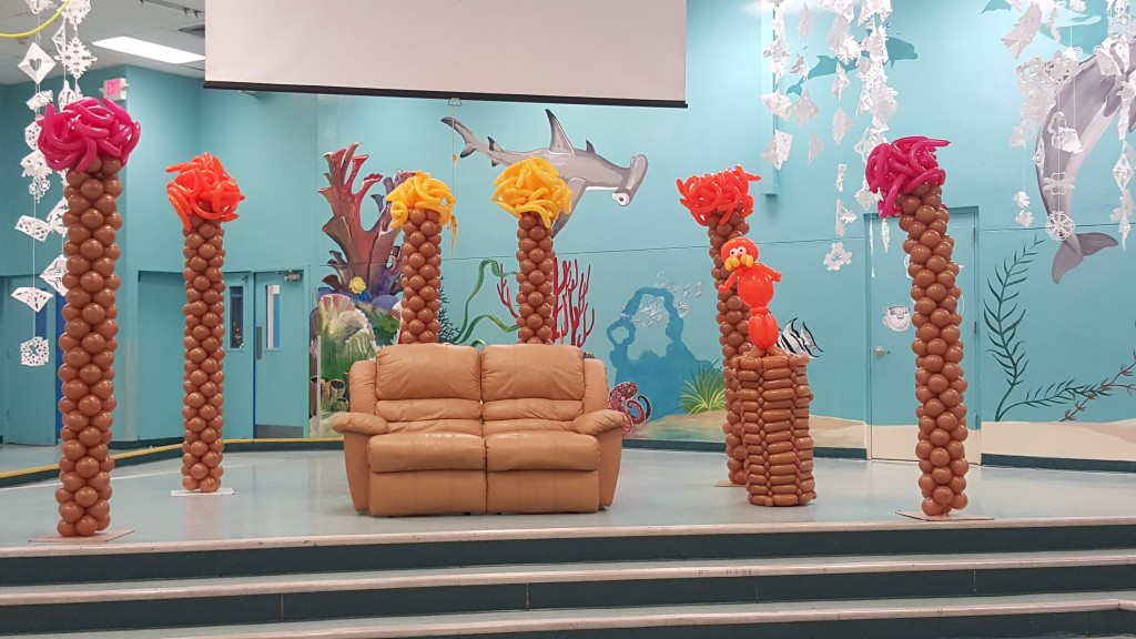 The Lorax balloon parody backdrop