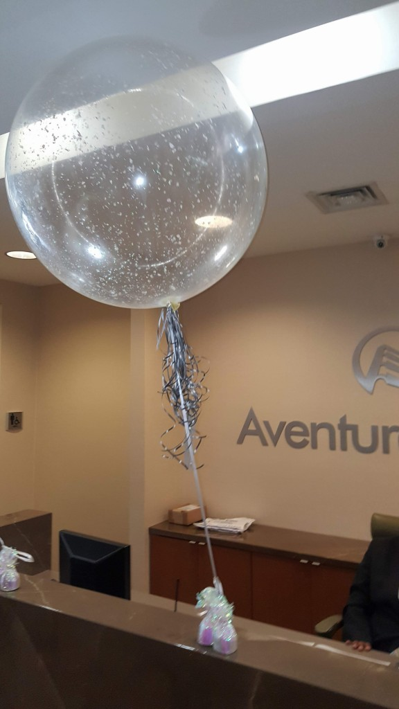 Three foot balloon with confetti balloon delivery