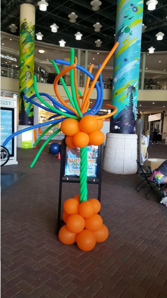 Tropical Funky balloon column