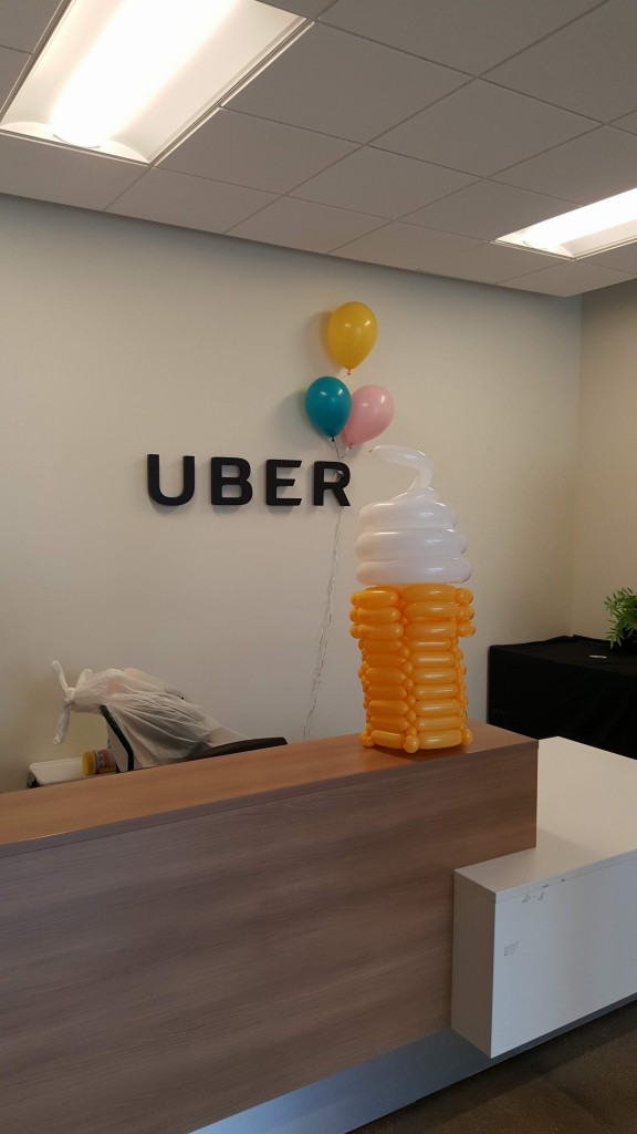 Yet another Balloon Ice cream cone centerpiece for Uber's Partners party